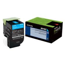 Lexmark CX310 Standard Yield Cyan Toner Cartridge (2,000 Yield) (TAA Compliant Version of 80C1SC0)