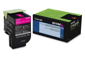 Lexmark CX310 Standard Yield Magenta Toner Cartridge (2,000 Yield) (TAA Compliant Version of 80C1SM0)