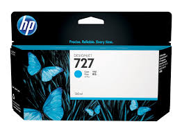 HP 727 (B3P19A) Cyan Original Ink Cartridge (130 ml)