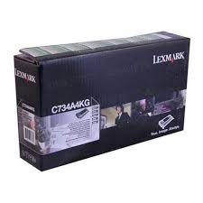 Lexmark C734 Black Toner Cartridge (8,000 Yield) (TAA Compliant Version of C734A1KG)
