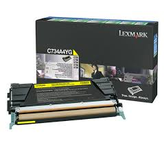 Lexmark C734 Yellow Toner Cartridge (6,000 Yield) (TAA Compliant Version of C734A1YG)