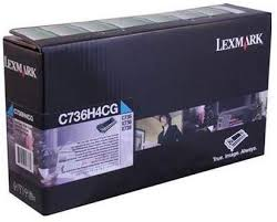 Lexmark C736 High Yield Cyan Toner Cartridge (10,000 Yield) (TAA Compliant Version of C736H1CG)