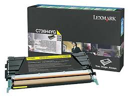 Lexmark High Yield Yellow Toner Cartridge (10,000 Yield) (TAA Compliant Version of C736H1YG)