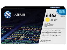 HP 646A (CF032A) Yellow Original LaserJet Toner Cartridge (12,500 Yield)