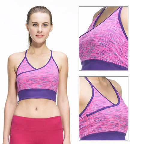 eede52061486d Women Fitness Sexy Yoga Sports Bra for Running Sports Gym Athletic Top Bra  Breathable Padded Stretch