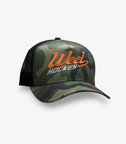 Weel Hockey Camo Trucker Hat