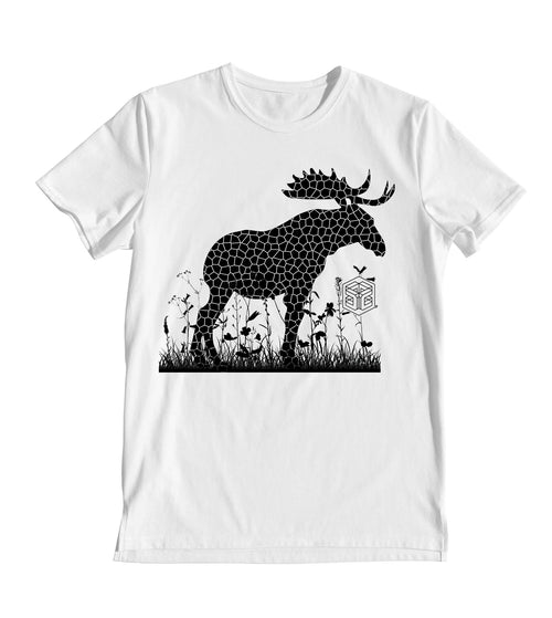 Moose Field of Flowers Women's T