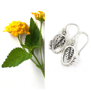 Lantana Leaf Earrings