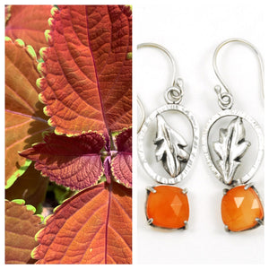 Coleus Leaf Earrings