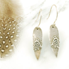 Vickie Hallmark | Cardinal Earrings | sterling silver