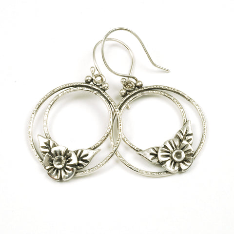 double ring earrings - Vickie Hallmark jewelry workshop sample