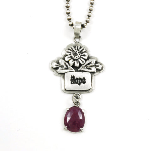 Hope pendant with purple sapphire by Vickie Hallmark