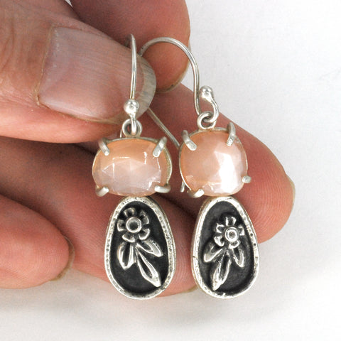 Vickie Hallmark | Dark Peach Blossom Earrings