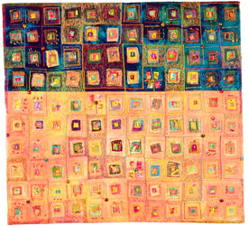Vickie Hallmark | Affinity | art quilt, multiple award winner