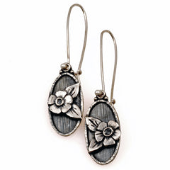 Vickie Hallmark | Anemone Earrings | Argentium sterling silver, fine silver