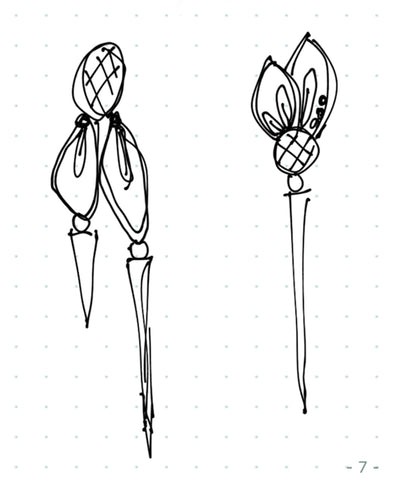 earrings design sketch 1 by Vickie Hallmark