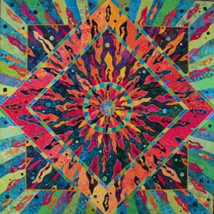 Vickie Hallmark | Enlightenment | art quilt, collection of the National Quilt Museum