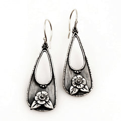 Vickie Hallmark | Flower Basket earrings | Argentium sterling silver, fine silver
