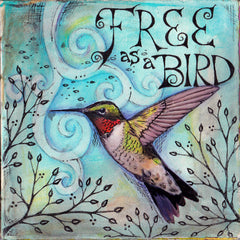 Vickie Hallmark | Free As a Bird | Watercolor Collage Journal