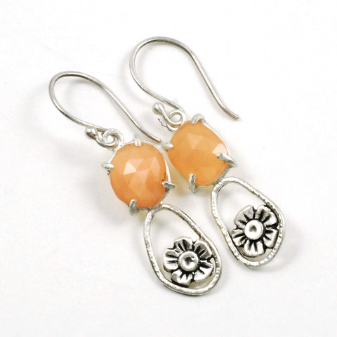 Vickie Hallmark | Open Peach Blossom Earrings