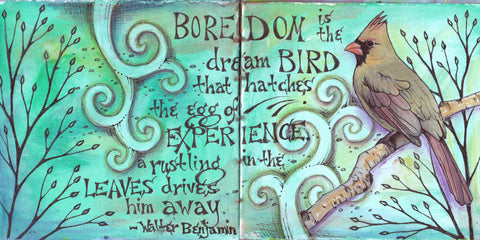 Vickie Hallmark | Boredom | Journal Art