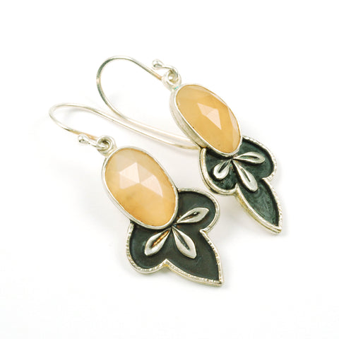 Vickie Hallmark | Moon Leaf Dangle Earrings