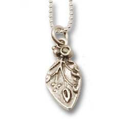 Vickie Hallmark | Peridot Leaf Necklace | sterling silver, peridot