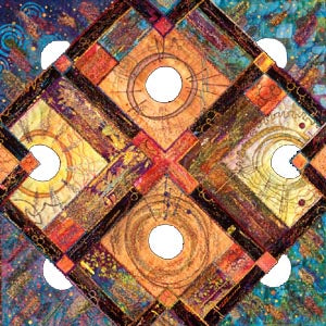 Vickie Hallmark | Resolution | art quilt, collection of the San Jose Museum of Quilts and Textiles