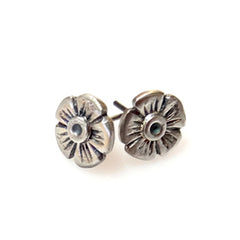 Vickie Hallmark | Rock Rose Studs | sterling silver