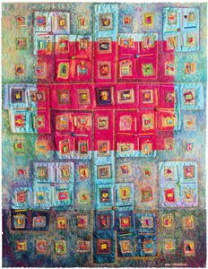Vickie Hallmark | Soul Searching | art quilts - cotton, silk, glass