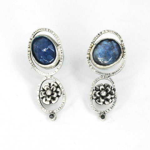 Winter Blues earrings by Vickie Hallmark