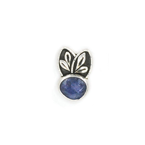 single tanzanite stud earring by Vickie Hallmark