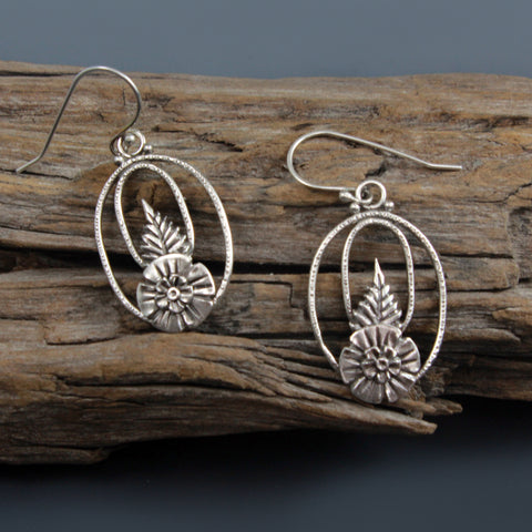 double ring earrings - Vickie Hallmark jewelry workshop