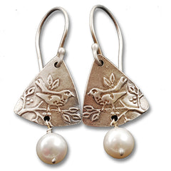 Vickie Hallmark | Wren Earrings | sterling silver and pearl