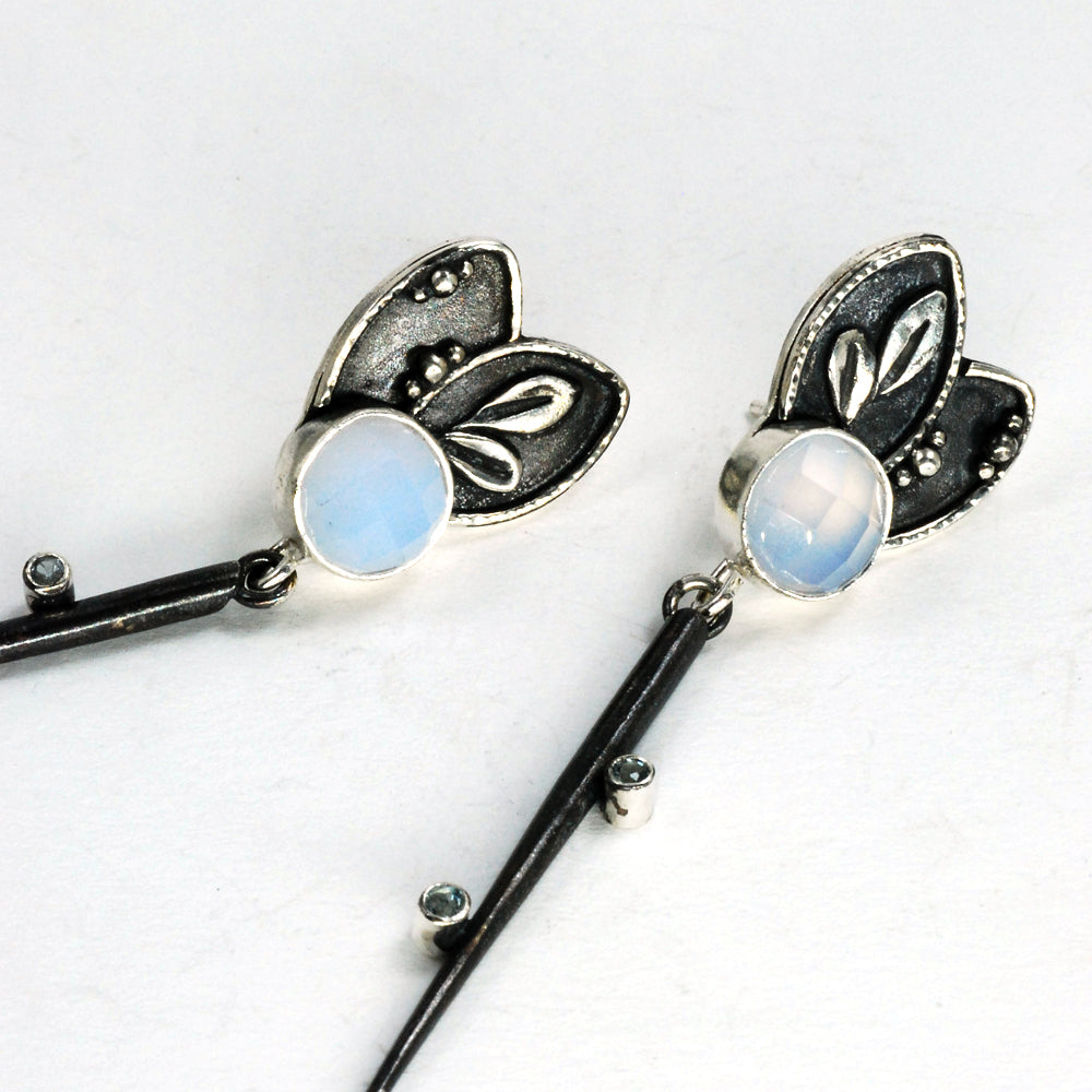 Chalcedony Dagger Earrings #2