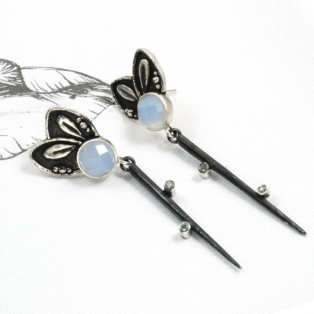 Chalcedony Dagger Earrings #3