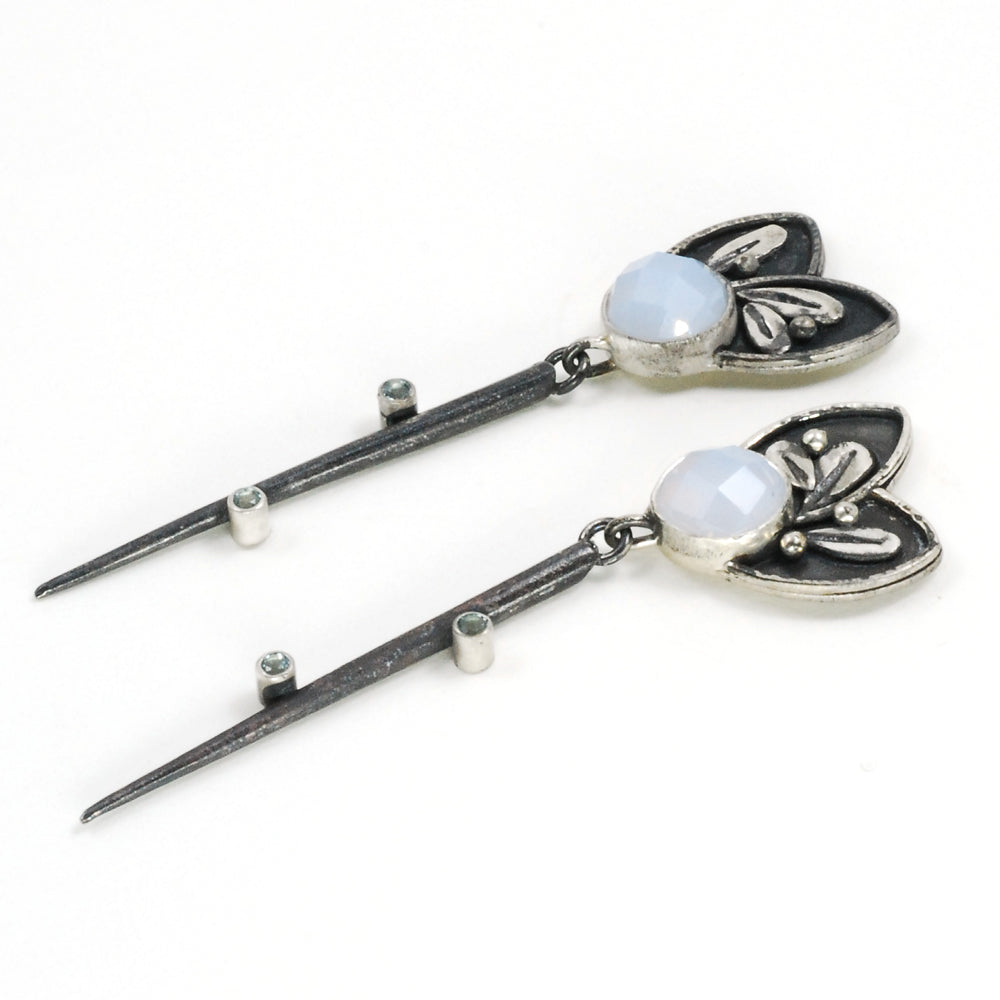 Chalcedony Dagger Earrings #4
