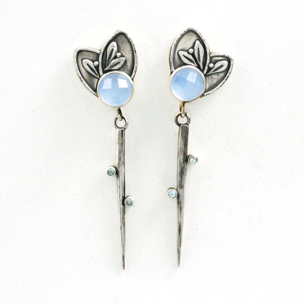 Chalcedony Dagger Earrings