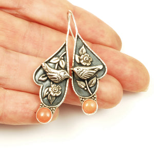 Coral Wren Earrings