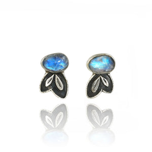 Blue Moon Leaf Studs