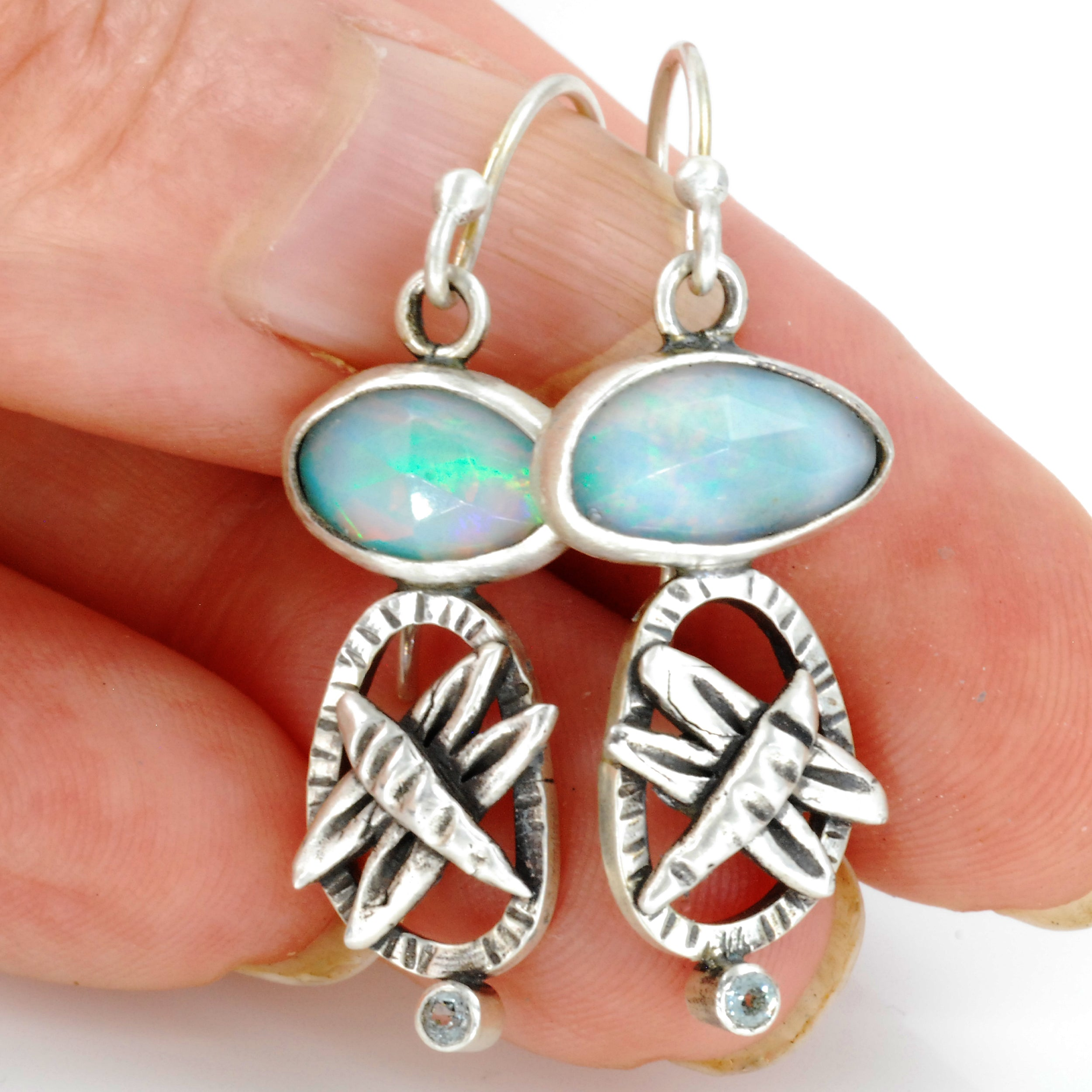 Opal Dragonfly Earrings