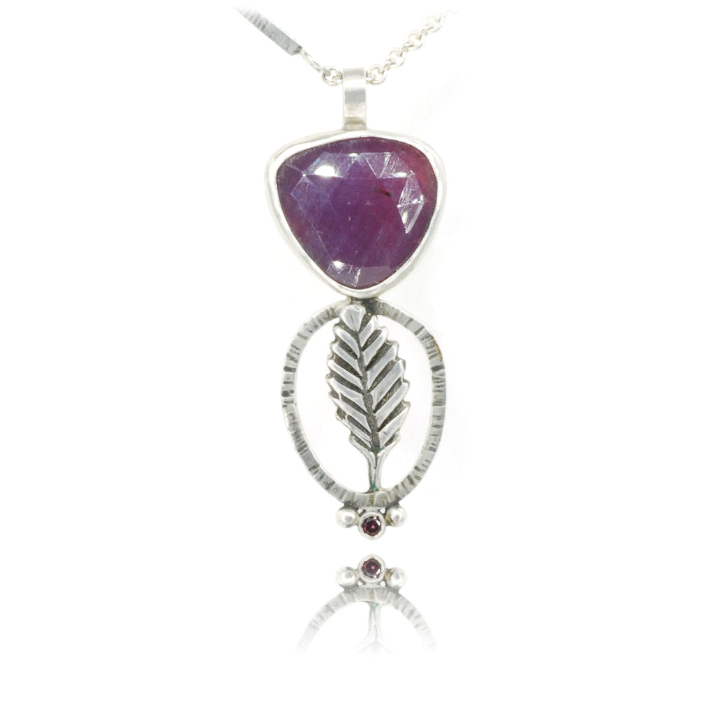 Purple Leaf Pendant