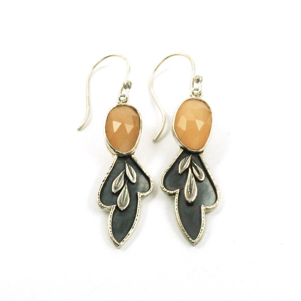 Moon Leaf Earrings Long