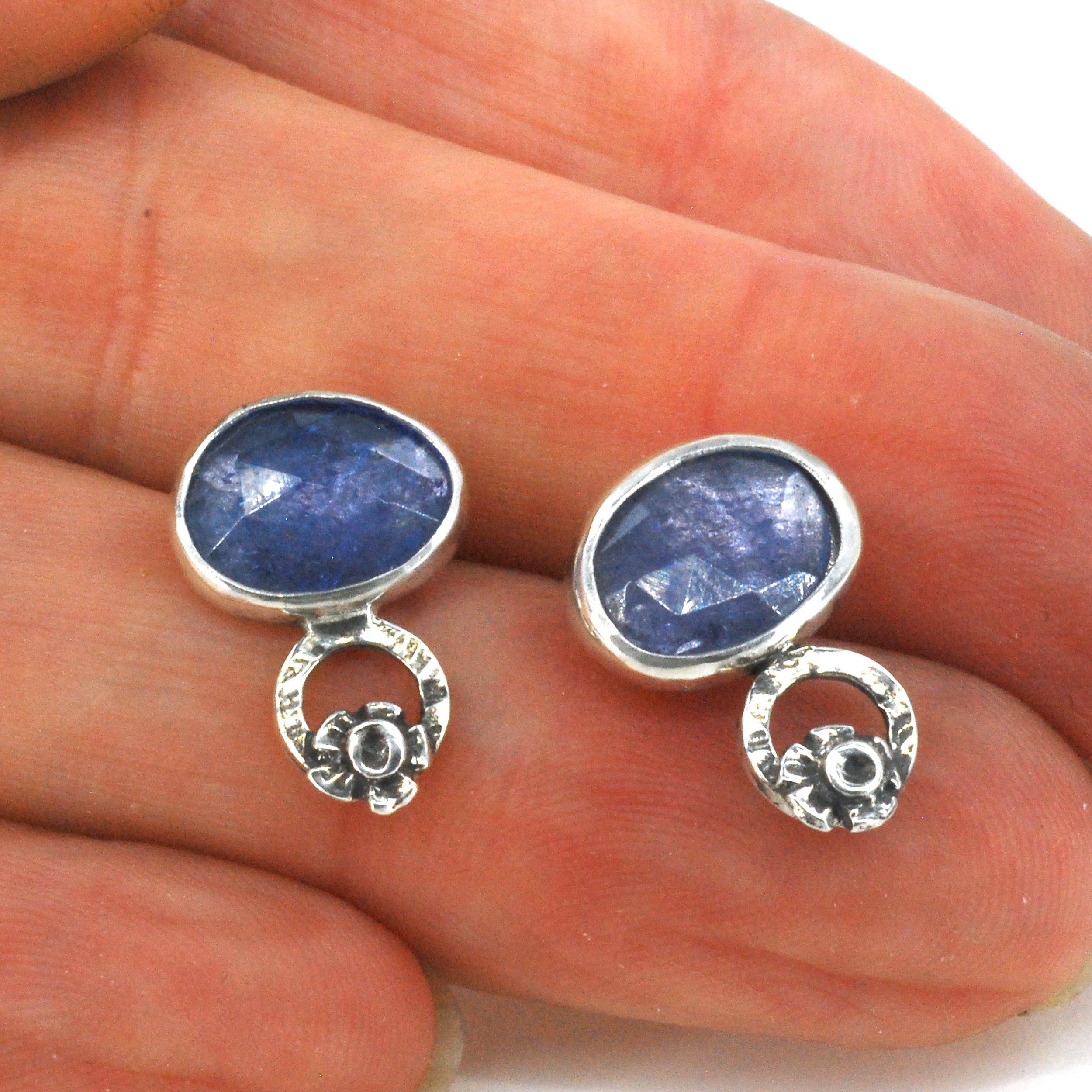 Tanzanite Blossom Earrings