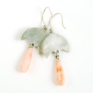 Coral Moonflower Earrings