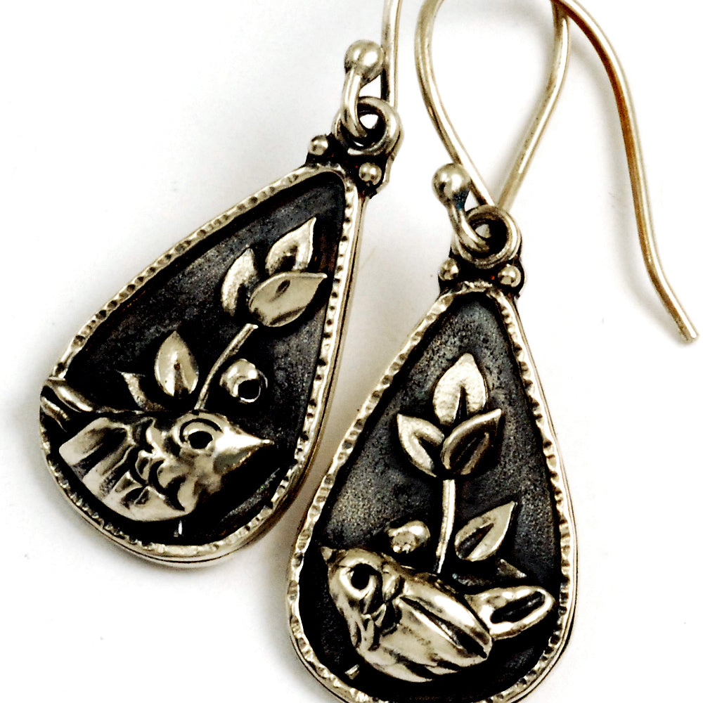Midnight Wren Earrings