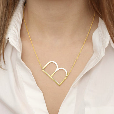 Trendy Sideways Letter Necklace