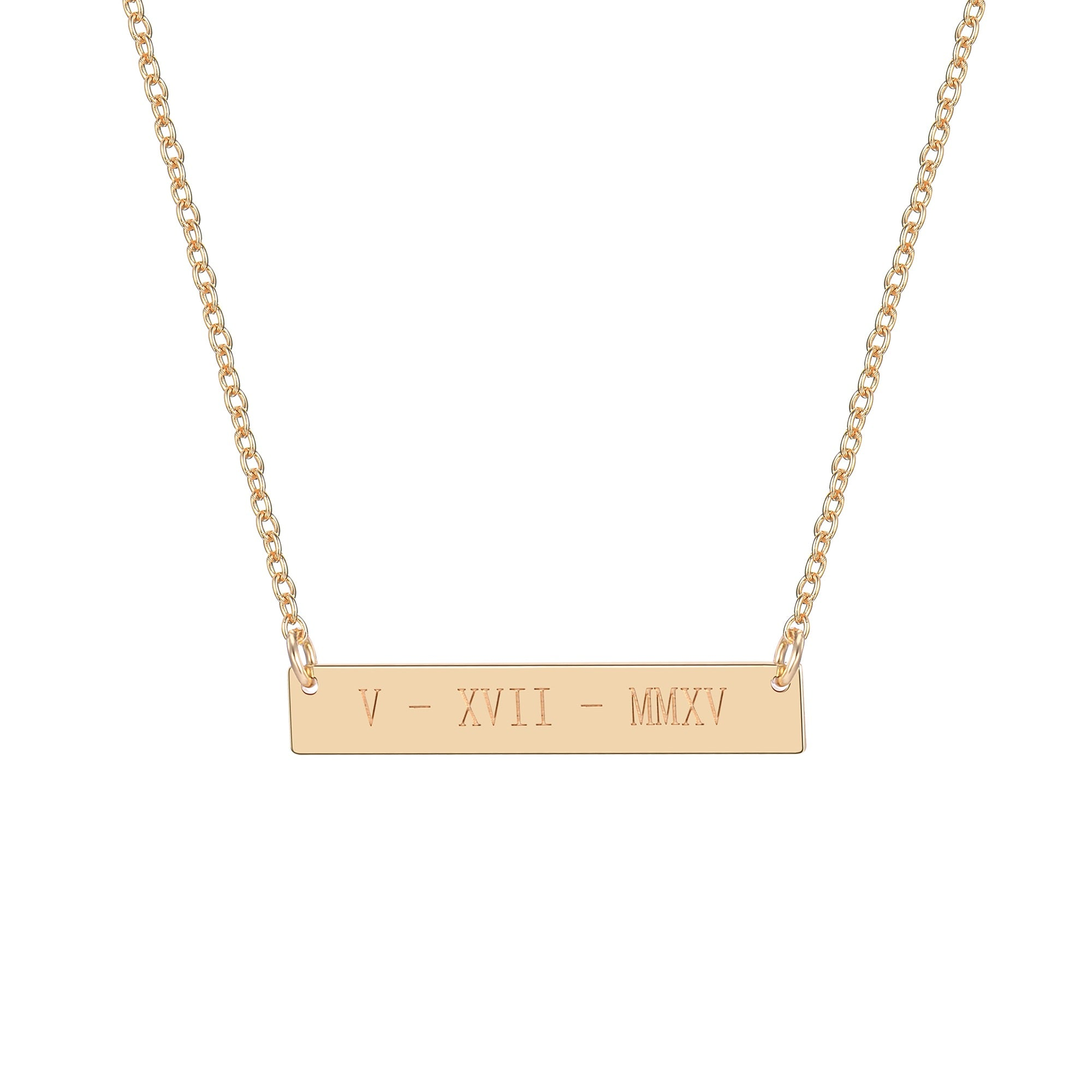 rose pendant img skinny gold necklace product inspirational engraved bar horizontal