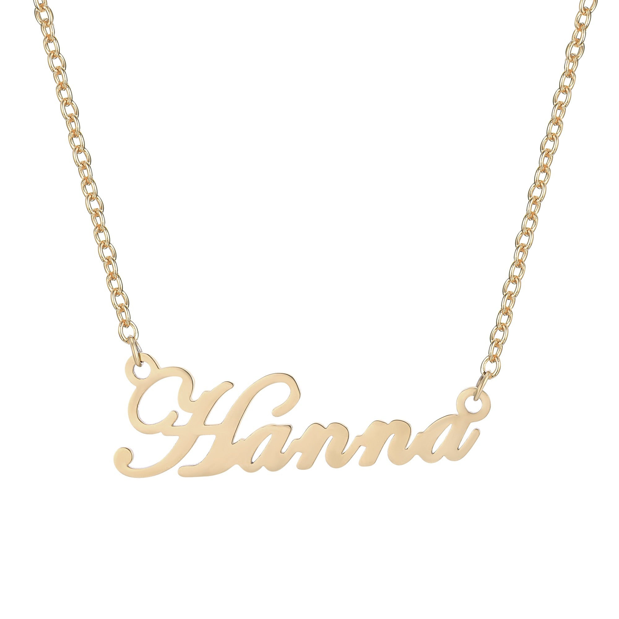 diamond nyc jewellery script yg product gold tyche name necklace