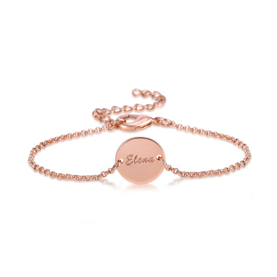 Engravable Name Coin Bracelet